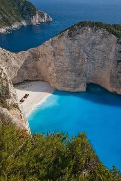 """The Blue Ocean, Navagio Bay- Greece. - Navagio bay - beach in Greece """"ma plage privé"""" Places Around The World, Oh The Places You'll Go, Places To Travel, Places To Visit, Around The Worlds, Dream Vacations, Vacation Spots, Paradis Tropical, Destinations"""
