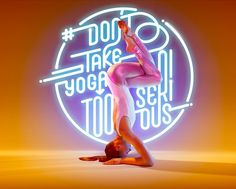 Yoga Photography - Björn Ewers, a German photographer from Studio teamed up with cmykay to create a vibrant yoga photography series that combines the modern. Photography Series, Yoga Photography, Lettering, Typography Design, Yoga Position, Yoga Images, Yoga Art, Beautiful Yoga, Flyer