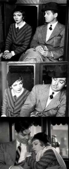 "Pre-Codes: Claudette Colbert, Clark Gable - ""It Happened One Night"" (1934)                                                                                                                                                                                 More"