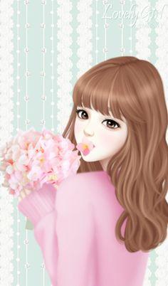 art, art girl, background, beautiful, beautiful girl, beauty, cartoon ...