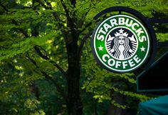 A classic Starbucks sign. Product Photography, Starbucks, Editorial, Signs, Classic, Derby, Shop Signs, Classic Books, Sign