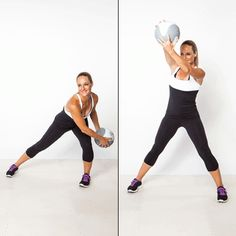 great for whittling waist and slimming arms Medicine Ball Exercises: Burn Fat and Flatten Your Belly | Shape Magazine