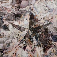 """Saatchi Online Artist: Pavel Brat; Paper, 2013, Assemblage / Collage """"White Star"""""""