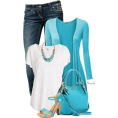 Turquoise, created by kswirsding on Polyvore