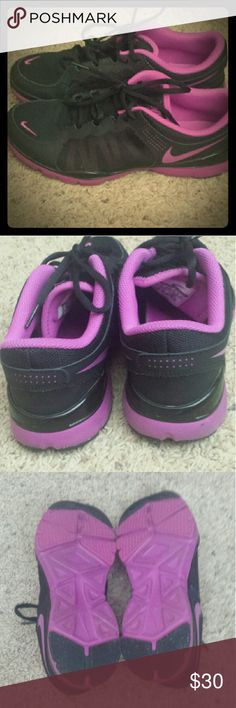 Nike sneakers Too tight on me. Sure cute though and barely used. Nike Shoes Athletic Shoes