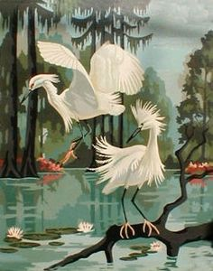 Paint By Number Painting Paint By Number Vintage, Flamingo Painting, Flamingo Art, Number Art, Artist Painting, Bird Art, Beautiful Birds, Vintage Art, Decoration