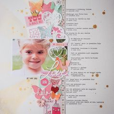 6 Ways to Embellish Scrapbook Pages Using a Series Cluster: love this article. This page is only one of many examples of using embellishments in a series. Love this page: great stash buster for my punch shape scraps. 12x12 Scrapbook, Digital Scrapbooking Layouts, Scrapbook Sketches, Scrapbook Paper Crafts, Maya, Smash Book, Diy Craft Projects, Craft Ideas, Paper Design