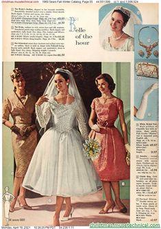 1960s Fashion, Vintage Fashion, 1960s Wedding, Little Shop Of Horrors, Vintage Bridal, Vintage Weddings, Christmas Catalogs, Fashion Marketing, Costume