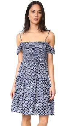 TORY BURCH Cabarita Smocked Dress. #toryburch #cloth #dress #top #shirt #sweater #skirt #beachwear #activewear