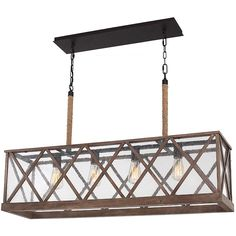 This lovely island chandelier features modern lines and natural elements for a warm, sophisticated look. It's one of The Home Depot's most-pinned products.