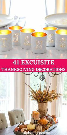 Celebrate Thanksgiving this year like never before! Find unique Thanksgiving décor ideas for home and outdoor. thanksgiving ideas,thanksgiving decorations,thanksgiving crafts,thanksgiving decorations diy,thanksgiving ideas decorating,thanksgiving party decorations #thanksgiving #thanksgivinghostingideas #thanksgivingideasforkids #thanksgivingfalltable Thanksgiving Home Decorations, Outdoor Thanksgiving, Hosting Thanksgiving, Thanksgiving Centerpieces, Thanksgiving Crafts, Bucket Centerpiece, Fall Table Centerpieces, Spray Paint Flowers, Pumpkin Vase