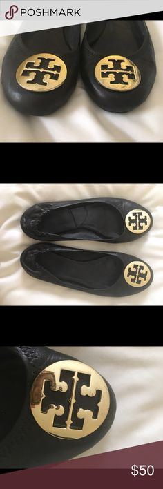 Tory Butch flats Great condition! Just a little worn but still very wearable and stylish! Tory Burch Shoes Flats & Loafers