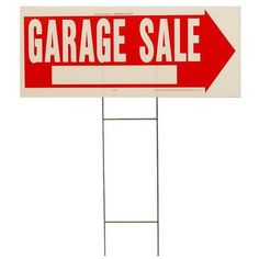 "Hy-Ko 10"" x 24"" Garage Sale Sign"