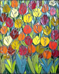 Tulip mosaic! Two of my favorite things, together at last!