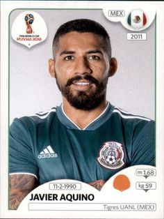 Javier Aquino - Mexico World Cup Russia 2018, World Cup 2018, Fifa World Cup, Football Stickers, Football Cards, Baseball Cards, Football Updates, Mexico 2018, Sports