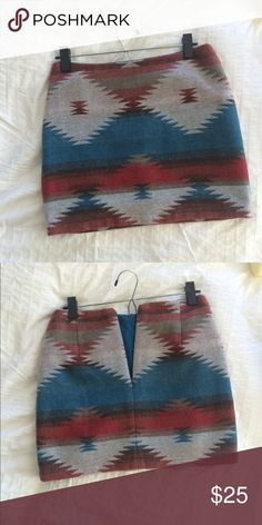 American eagle wool skirt Southwestern print American eagle wool skirt, worn once American Eagle Outfitters Skirts Mini