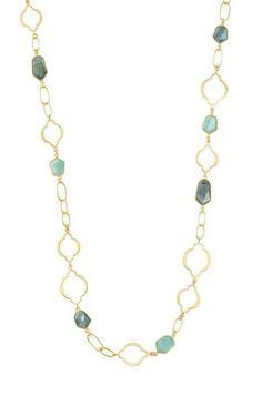 Shop this chain link necklace for a simple, yet elegant look with gold or silver chains.