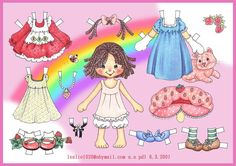 Before I started to keep an inventory of my paper doll collection, I collected a lot that I have no record of where or from whom I got the set from. This is one such set. I think it is a very cu…