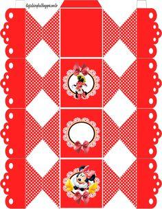 "Kit Aniversário Personalizados Tema ""Minnie Vermelha"" para Imprimir - Convites Digitais Simples"