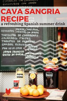 People in Spain don't always drink sangria when out at a bar or restaurant. Join in the fun with this easy recipe for cava sangria that's absolutely perfect on a hot summer day. Spanish Cuisine, Spanish Food, Tacos, Summer Cocktails, Refreshing Drinks, Foodie Travel, Summer Recipes, Street Food