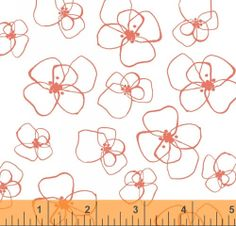 Little Blomster in Coral - Mormor Collection - Lotta Jansdotter Fabric