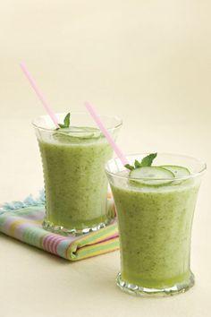 Honeydew-Cucumber Mint Smoothies