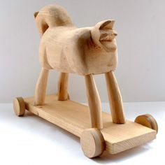 A wooden horse. Wooden Horse, Carpenter, Bookends, Horses, Toys, Home Decor, Activity Toys, Decoration Home, Room Decor