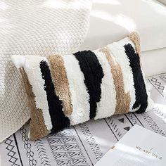 "Amazon.com: Boho Throw Pillow, Tribal Pillow Cover, Cotton Woven Moroccan Pillows for Bedroom Living Room Sofa Couch Lumbar 12""x20"": Home & Kitchen Leather Throw Pillows, Boho Throw Pillows, Lumbar Throw Pillow, Diy Pillows, Pillow Mat, Cute Cushions, Diy Pillow Covers, Crochet Pillow, Crochet Motif"
