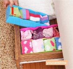 Desktop Cosmetic Makeup Organizer Ties Socks Underwear Drawer Storage Box 4 lot