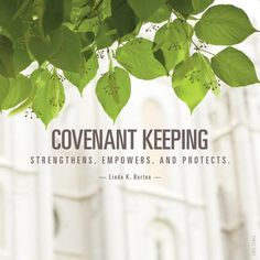 """""""Nephi saw the blessings the Lord bestows upon covenant keepers: 'The power of the Lamb of God ... descended … upon the covenant people of the Lord, … and they were armed with righteousness and with the power of God in great glory.' As we keep our covenants, we receive courage and strength."""" From Sister Burton's http://pinterest.com/pin/24066179231085873 inspiring http://facebook.com/223271487682878 message http://lds.org/general-conference/2013/10/the-power-joy-and-love-of-covenant-keeping"""