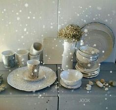 Christmas handmade dinnerware by JOOK
