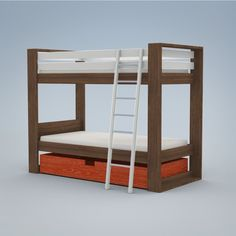 Duc Duc trundle bed Modern Childrens Furniture, Cubbies, Kids Rooms, Nifty, Bunk Beds, Home Furnishings, Hardwood, House Design, Flooring