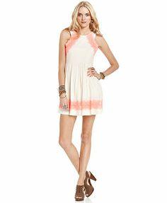 Free People Dress, Sleeveless High-Neck Lace A-Line