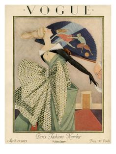 ⍌ Vintage Vogue ⍌ art and illustration for vogue magazine covers - April 1923 Poster Print by George Wolfe Plank at the Condé Nast Collection Capas Vintage Da Vogue, Vogue Vintage, Vintage Vogue Covers, Pinturas Art Deco, Art Deco Illustration, Vintage Illustrations, Fashion Illustrations, Vogue Magazine Covers, Inspiration Art