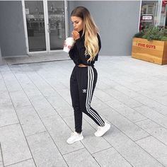 Description Item Type: Sneakers Insole Material: Rubber vamp Material: Mesh Cloth Color: Grey*Pink* Beige Source by ksrmigle and roshes outfit Legging Outfits, Adidas Joggers Outfit, Jogger Outfit, Sporty Outfits, Mode Outfits, Trendy Outfits, Fall Outfits, Fashion Outfits, Adidas Pants