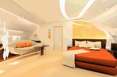 this is a bedroom inside of a plane! OMG