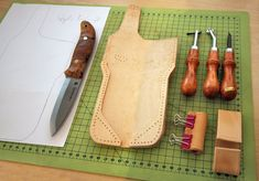 "Custom made leather sheath, by ""Bushcraft Biker"""