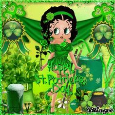St Patricks Betty Boop St Patricks Day Wallpaper, Baby Cubs, Boop Gif, Betty Boop Cartoon, Betty Boop Pictures, Animation, St Pats, Cute Pictures, Creations