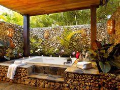 Amazing Cabrera Villa Rental   Outdoor Bath And Shower Amazing Design
