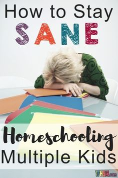 How to Stay Sane while Homeschooling Multiple Kids There are many learning experiences that come along when homeschooling multiple kids. Sure parenthood is hard enough without taking into consideration the fact that you have more than one kid. Life can b Homeschool Blogs, Homeschool High School, Homeschooling Resources, Kindergarten Lesson Plans, Kindergarten Activities, Preschool Ideas, Multiplication For Kids, Home Schooling, Stay Sane