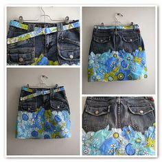 Moda e Dicas de Costura: RECICLAGEM DE CALÇA JEANS - 10