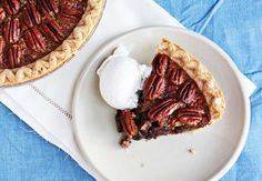 Brownie Pecan Pie via A Beautiful Mess