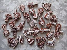 a dětem do školky | Perníky Christmas Gingerbread, Gingerbread Cookies, Christmas Cookies, Iced Sugar Cookies, Homemade Butter, Easter Cookies, Slow Food, Cold Meals, Cookie Designs