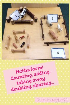 Maths farm. Can be used for counting, adding, taking away, doubling, sharing... EYFS