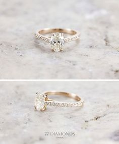 Diamond Rings If she likes Vintage take a look at our engagement rings inspired by antique rings. Maybe a circle diamond instead of oval though. Vintage Diamond Rings, Antique Rings, Vintage Engagement Rings, Vintage Rings, Wedding Engagement, Wedding Bands, Oval Diamond, Ring Designs, 77 Diamonds