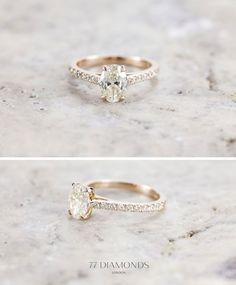 rose gold vintage wedding engagement rings