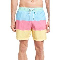Men's Boardies Refresher Swim Trunks ($70) ❤ liked on Polyvore featuring men's fashion, men's clothing, men's swimwear, mens short swim trunks, mens clothing, mens board shorts swimwear, mens swimwear and mens swim trunks