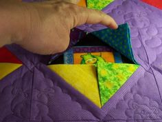 Peek a boo baby quilt...nice interactivity for little ones...reminds me of the I spy quilts.                                                                                                                                                                                 More