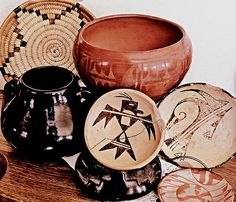 native american pottery and basket