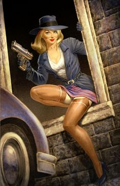 Greg Hildebrandt Vintage Pulp Art #vintage #illustration